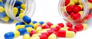 frasco com medicamentos